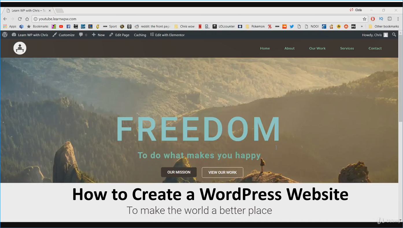 Learn How To Create A Wordpress Website