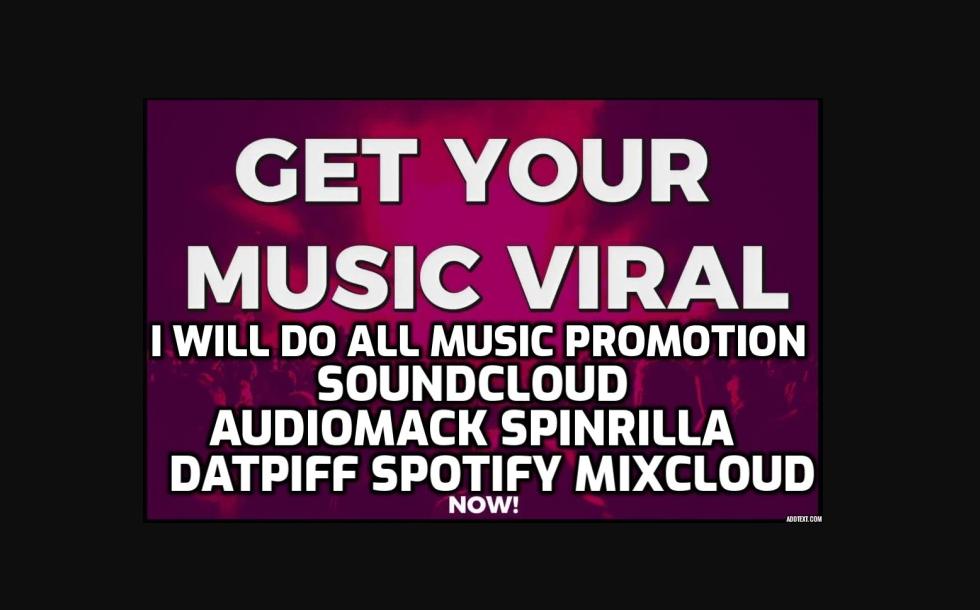 Pr0mote Your Muslc on,  Audi0mack,  Datplff,  SpinriIla,  Livemlxtapes,  S0undcl0ud,  Beatstars,  A