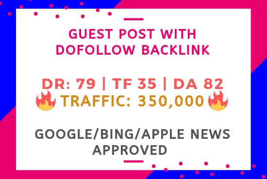 Guest Posting on DA 82 google news site with backlink