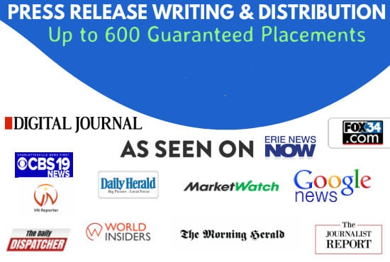 provide your press release guaranteed placement in 150 sites