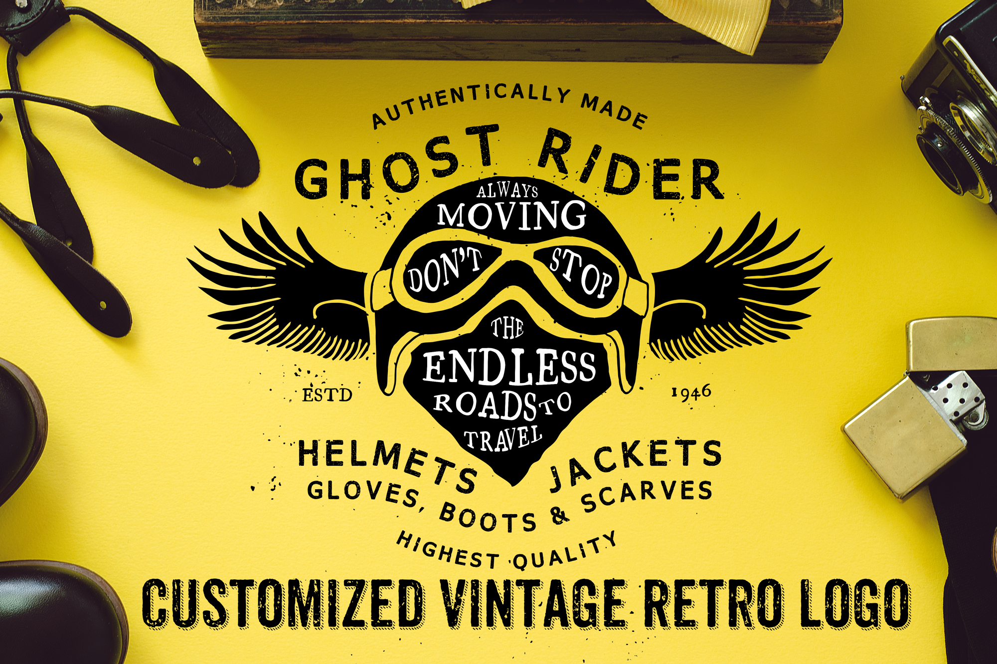 I will do 2 beautiful retro vintage logo with free vector files