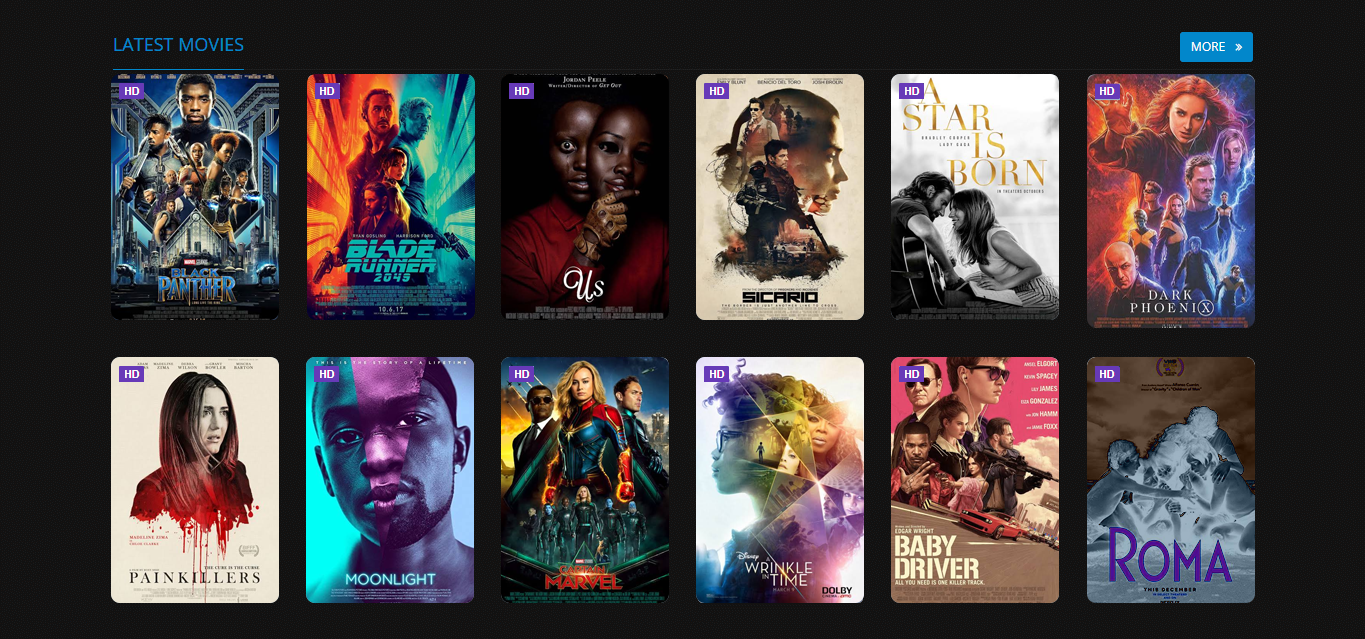 Create your Professional Movies or TV Series Portal Dynamic Website