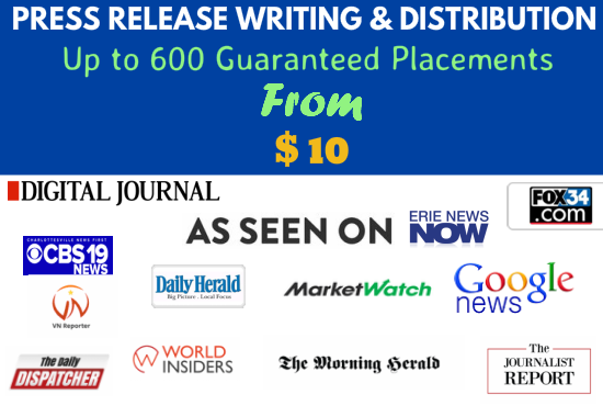 I will provide guaranteed press release placement in 150 news sites