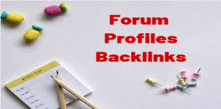 500+ Forum profiles backlinks from high quality forums