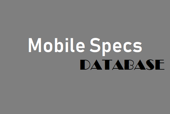 Give You Mobile Specs DataBase in JSON Format