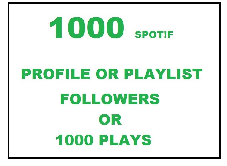1000 FOLL0WERS OR PLAYLIST FOLL0WERS