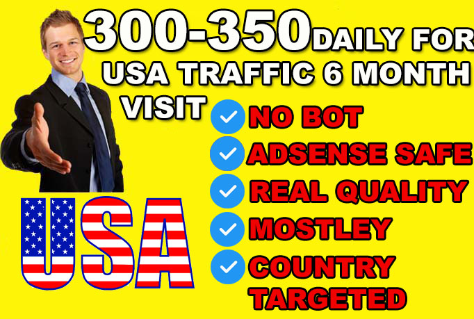 send USA traffic,  website visitors,  from search engines