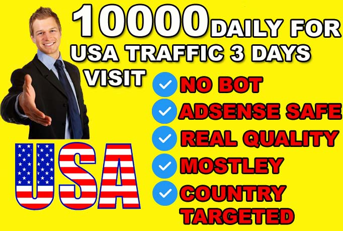 send USA targeted website or blog traffic visitors.