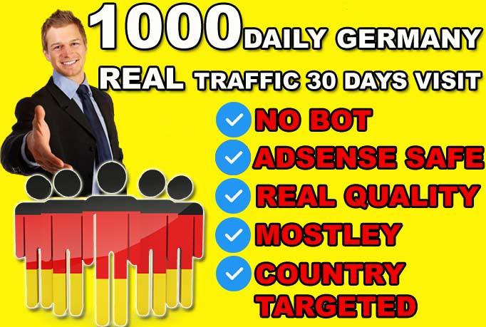 send Germany targeted website or blog traffic visitors.