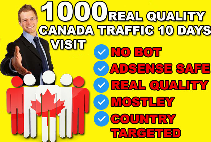 DRIVE 10000 CANADA Real quality Visitors To Your Website