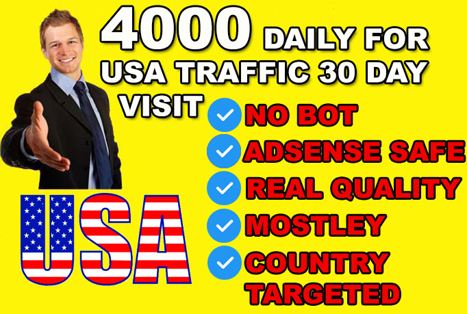 provide 4000 VERIFIED Website Real Human Visitors