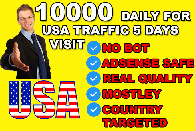 10000 daily for usa real quality target website traffic