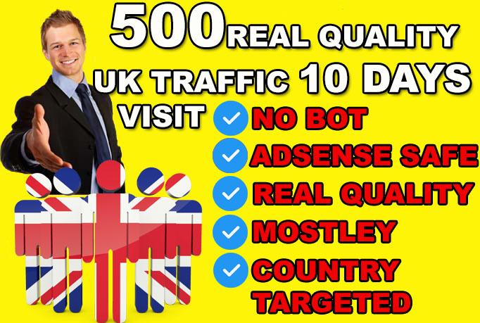 drive ORAGANIC UNITED KINGDOM country target,  website traffic visitors