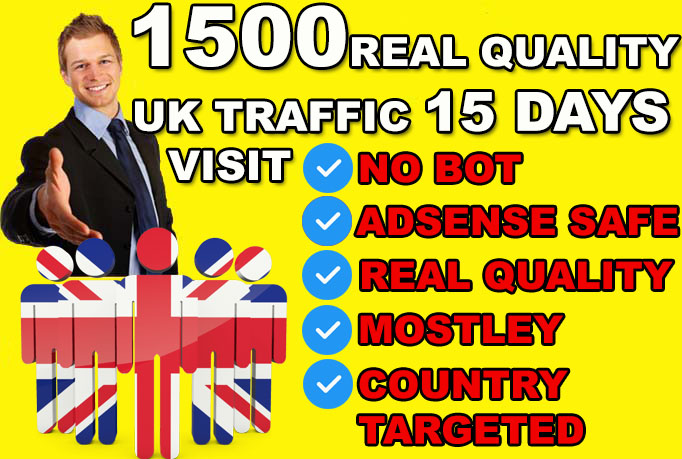 send uk website traffic visitors, keyword country target