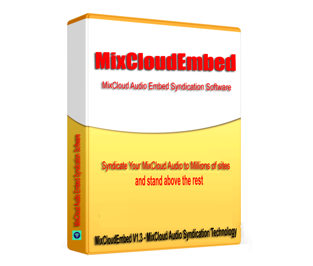 MixCloudEmbed -MixCloud Audio SEO Embed Syndication Software V1.3