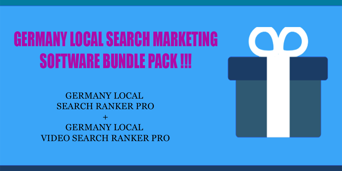 Germany local search ranker software bundle pack