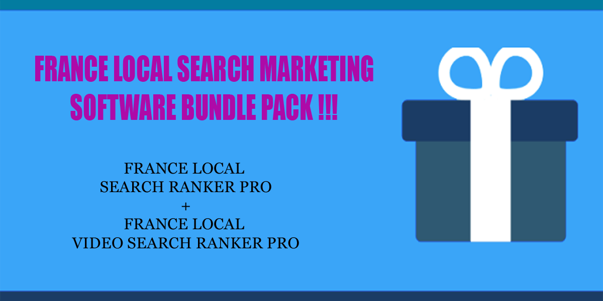 France local search ranker software bundle pack