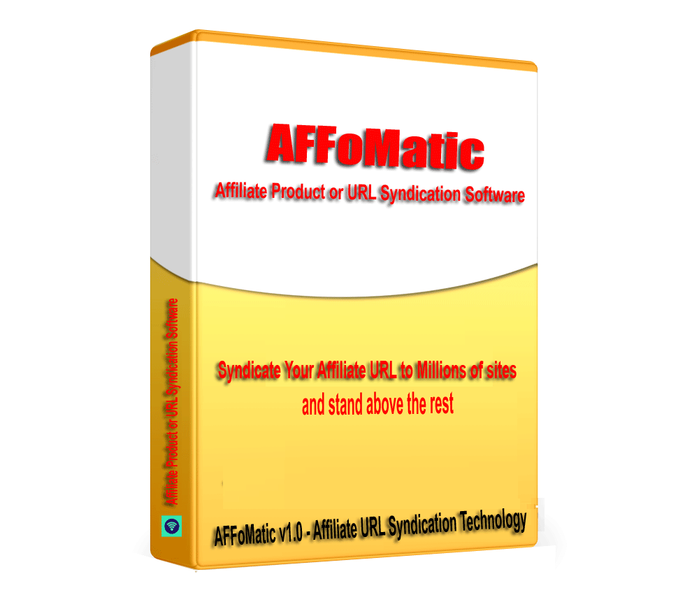 AFFoMatic - Affiliate Product URL SEO and Backlink Builder Software V1.0.1