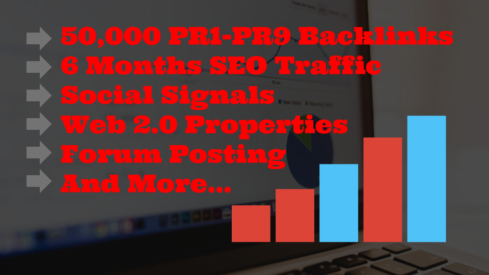 Monster Backlinks Pack- Create and Index 50000 PR1-PR9 Backlinks,  6 Months SEO Traffic,  10000 Web2