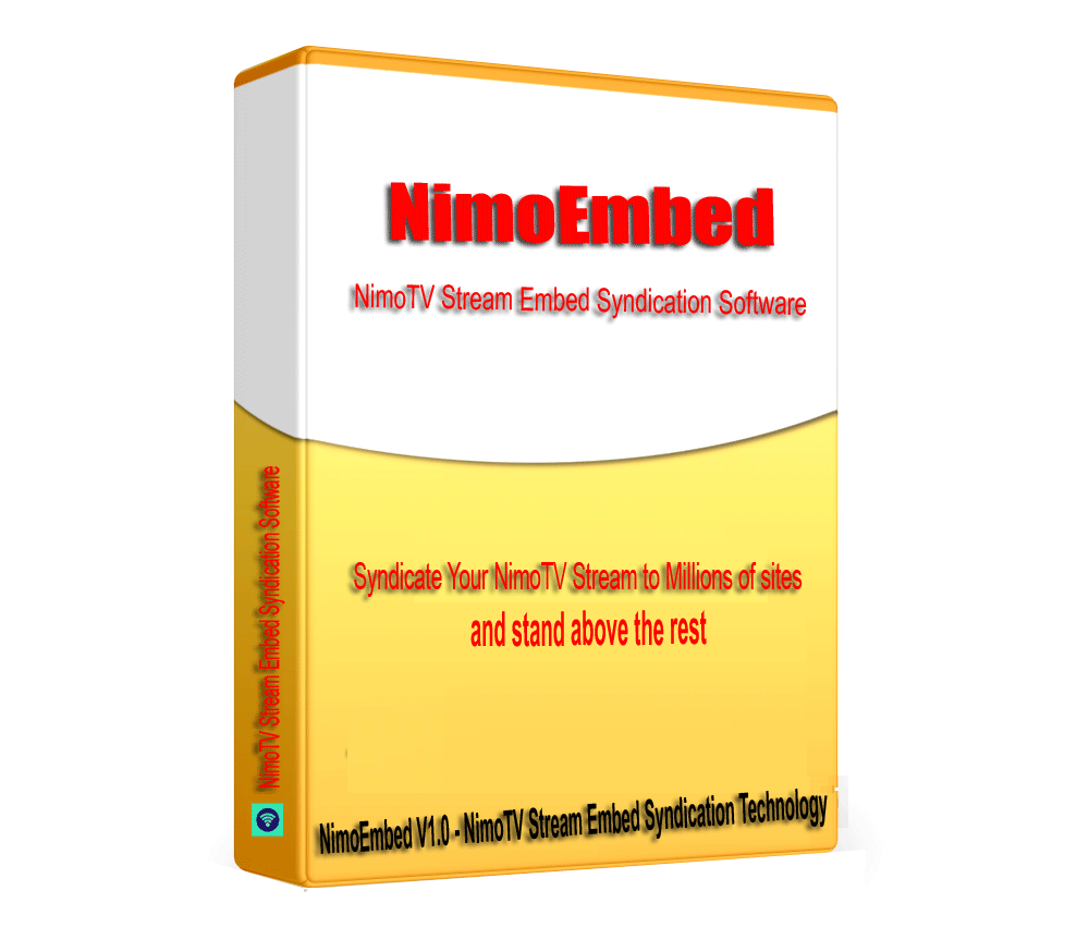 NimoEmbed - NiMO Live Game Stream SEO embed syndication Software