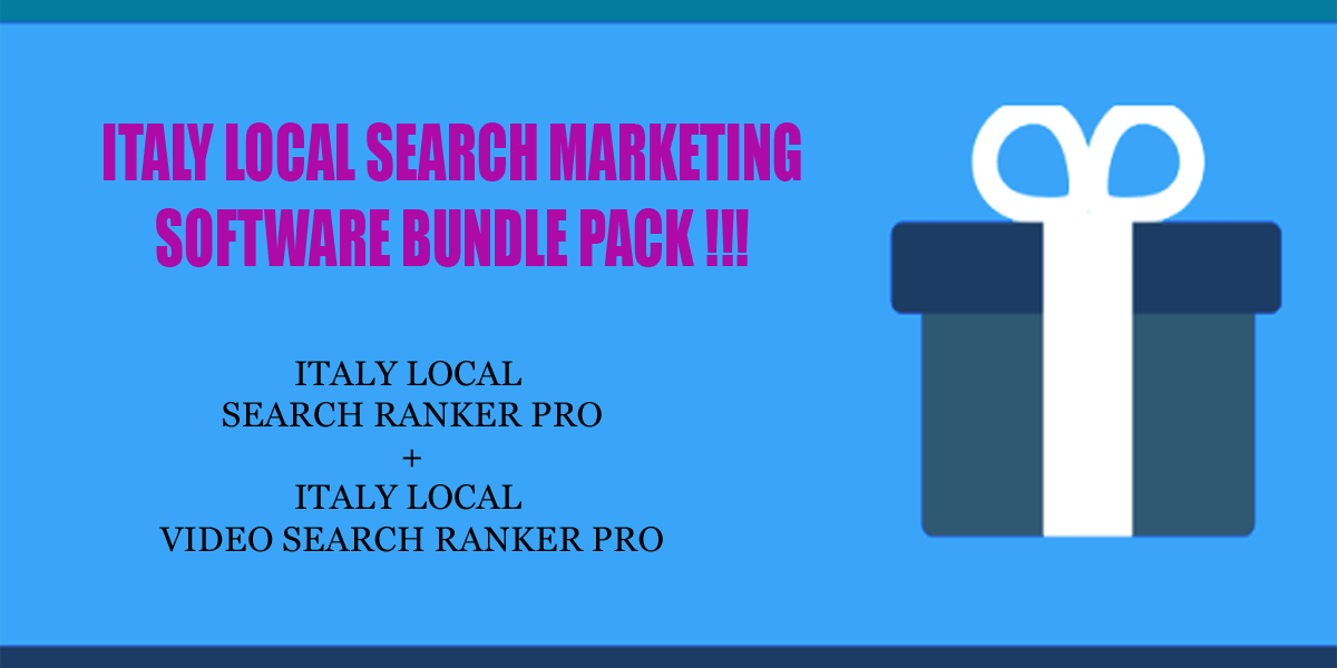 Italy local search ranker software bundle pack