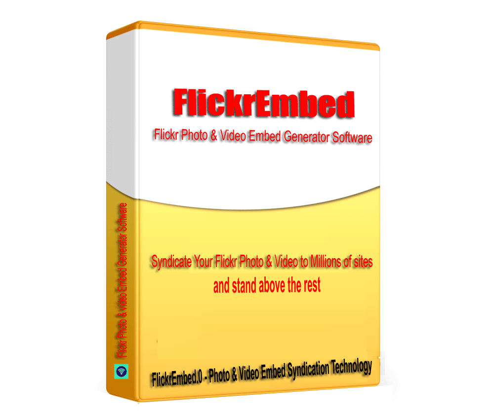 FlickrEmbed - Flickr Images & Video Embed Syndication Software V1.0.1