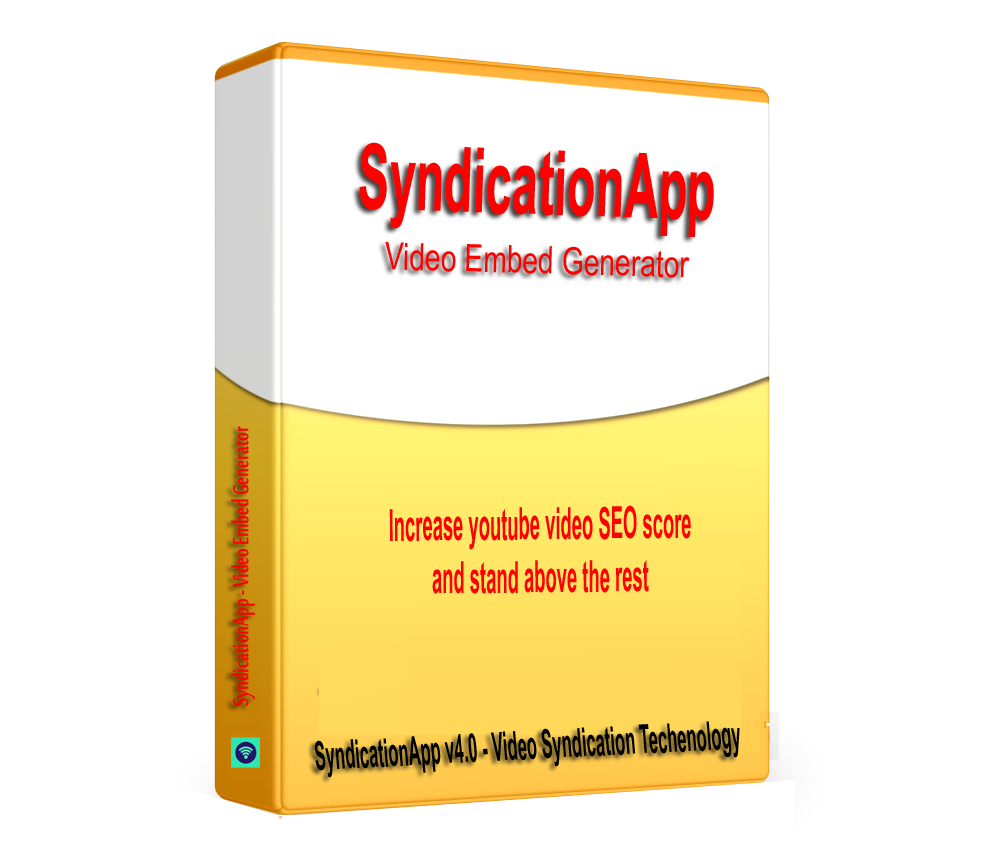 SyndicationApp - Youtube Video SEO Embed generator and backlinks Builder software