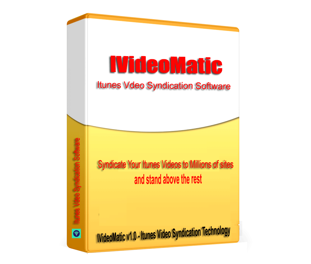 IVideoMatic - Itunes Music Video SEO link building & Syndication Software V1.0.1