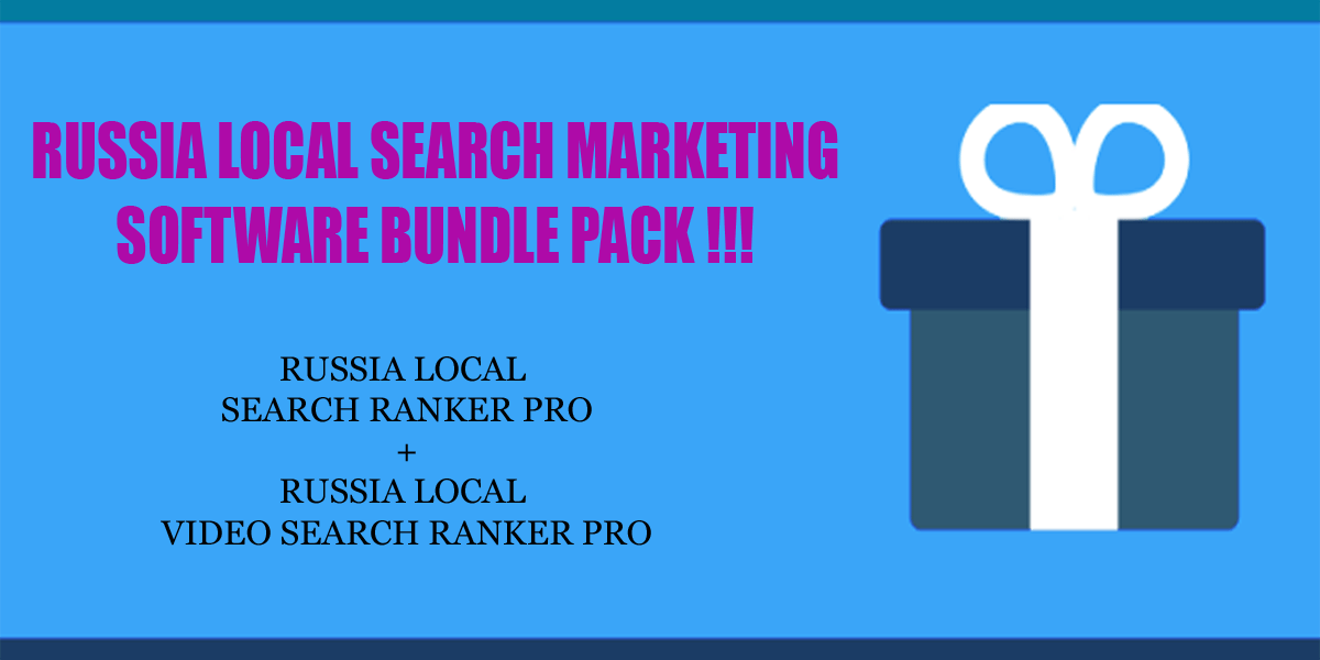 Bundle Pack 2 - Russia local search ranker software bundle pack