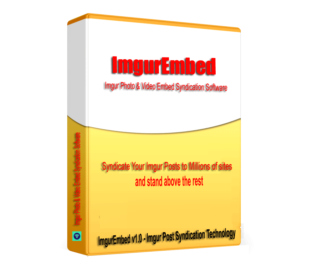 ImgurEmbed - Imgur images & Video Embed Syndication Software V1.0.1