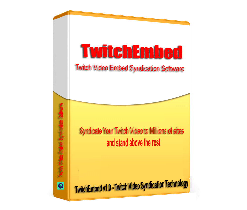 TwitchEmbed - Twitch Video Embed Syndication Software V1.0.1