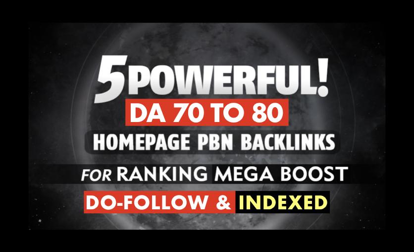 Explode Your SEO Rankings With DA 70 - 80 SEO Backlinks