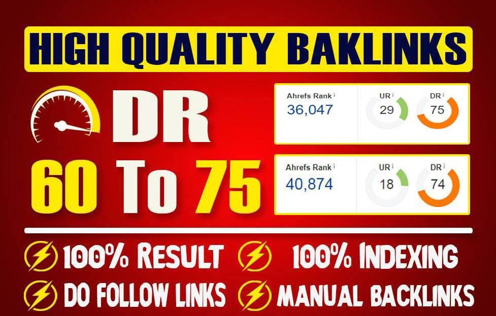 Make 10 DoFollow High Authority PBN Backlinks DR 60-75