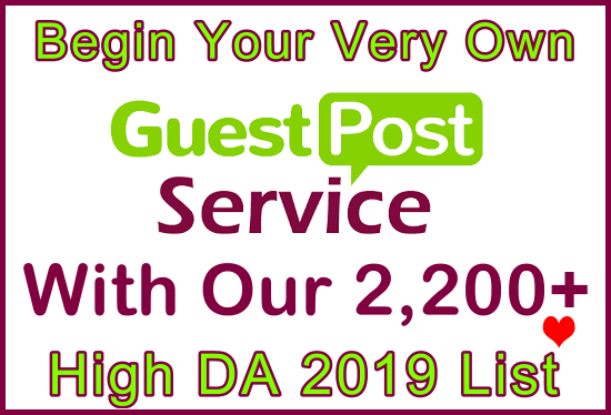 Over 2,200 High DA All Niches Free Guest Posts 2019 List