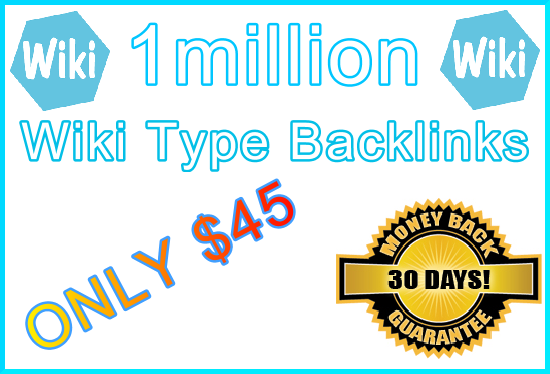 1million SEO Ultra-Safe GSA SER Wiki Type Submitted Backlinks