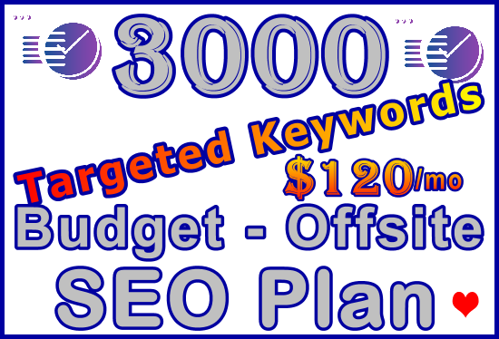 3,000 Targeted Keywords - Budget Offsite SEO Plan