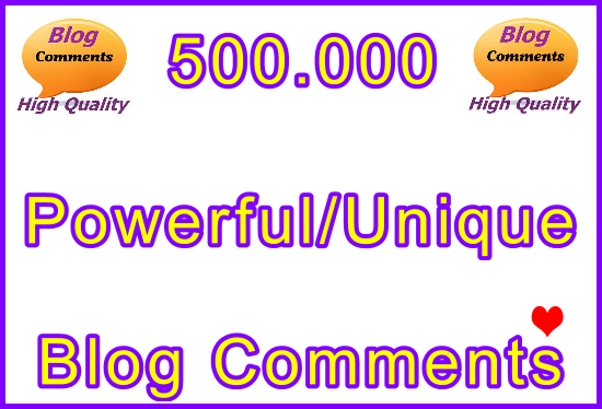 500.000 SEO Ultra-Safe Tiered Blog Comments