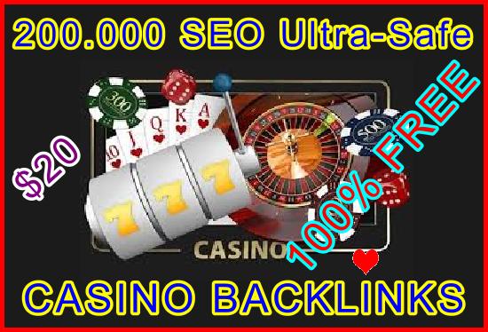 200.000 SEO Ultra-Safe GSA SER CASINO ONLY Backlinks