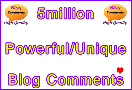 5million SEO Ultra-Safe Tiered Blog Comments