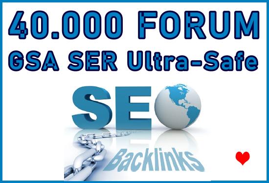40.000 Forum Profiles GSA SER HQ Backlinks