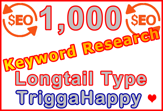 1,000 Longtail Type Keywords Research