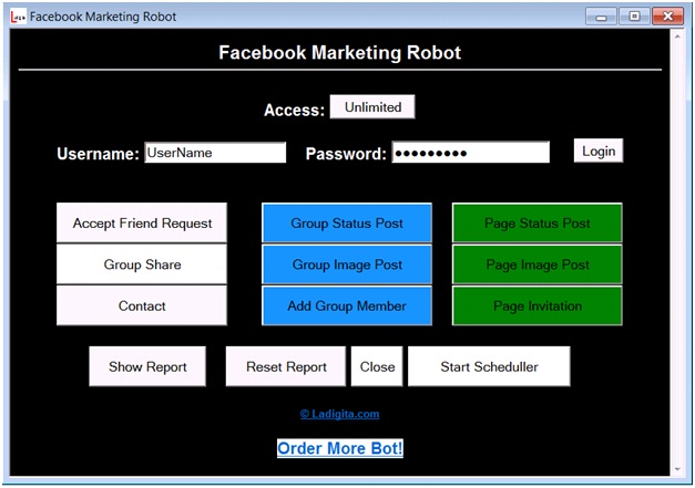 Automate facebook marketing with 10 modules software