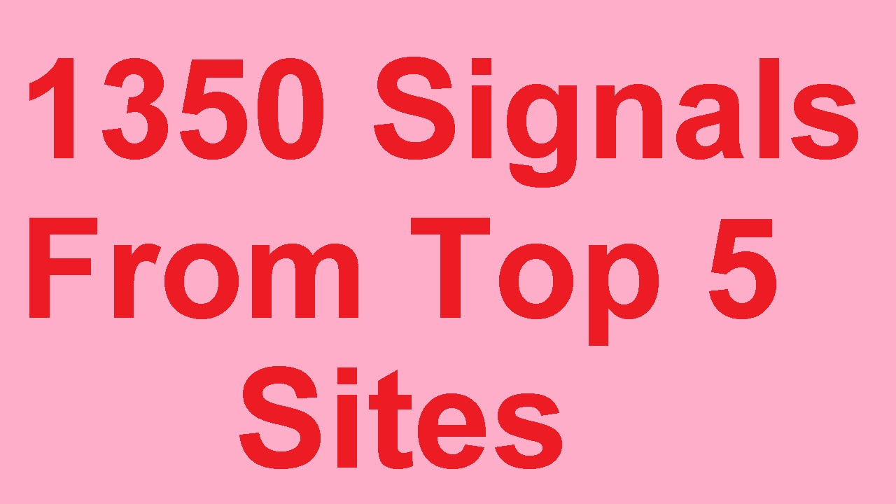 1350 Social Signals from top 5 Site Pinterest,  Twitt,  Tumblr Xing