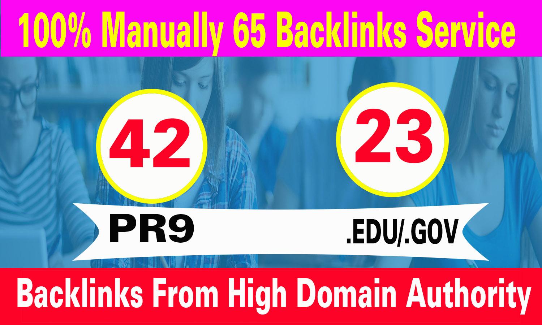 do 42 PR9 +23 EDU/GOV High DA SEO Backlinks