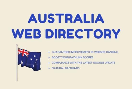 I will do 50 australian web directory