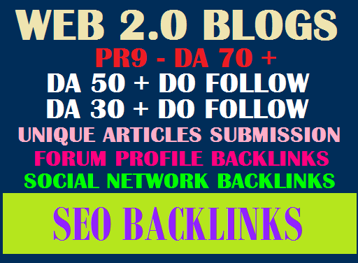 Fully SEO Backlinks Package Help Your Ranking