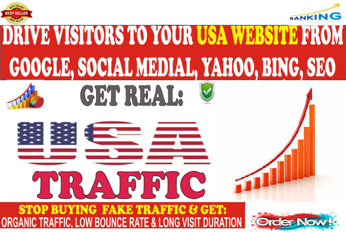 I WILL BRING UNLIMITED ORGANIC SOCIAL USA TRAFFIC WITH LOW BOUNCE RATE