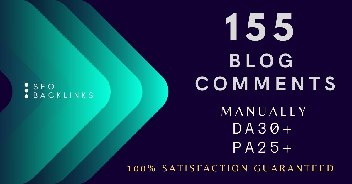 I will build 155 Manually Blog Comments Backlinks on High DA PA Authority Sites