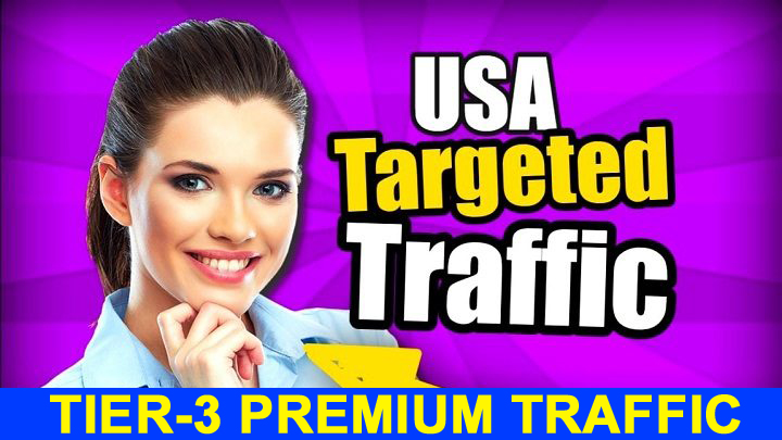 Tier-3 PREMIUM Adsense Safe 30 Days Unlimited USA Visitors Traffics Daily