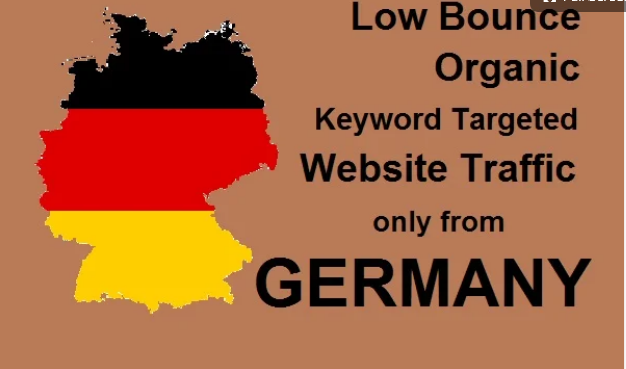 TWO MONTH Organic keyword targeted low bounce germany web traffic